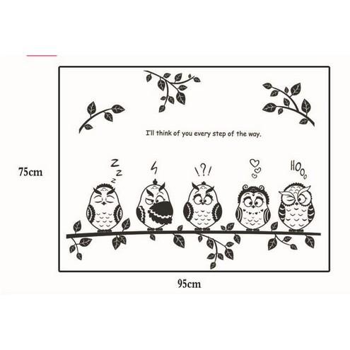 Stiker Dinding Dengan Bahan Vinyl Mudah Dilepas Gambar Burung