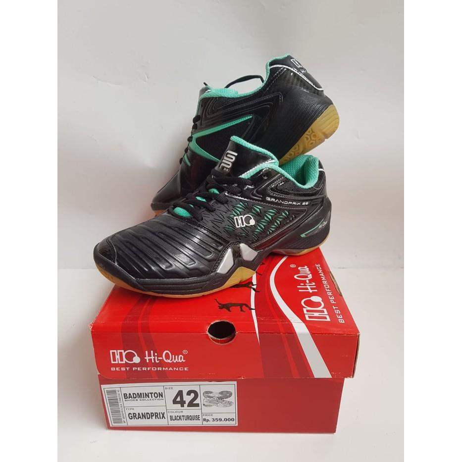Sepatu badminton HI-QUA HI QUA GRANDPRIX BLACK  90d4387cdd