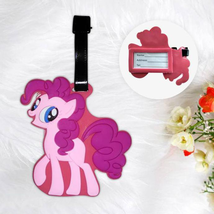 Perlengkapan Rumah Lugage Tag Little Pony Pink Pon002 Shopee Indonesia