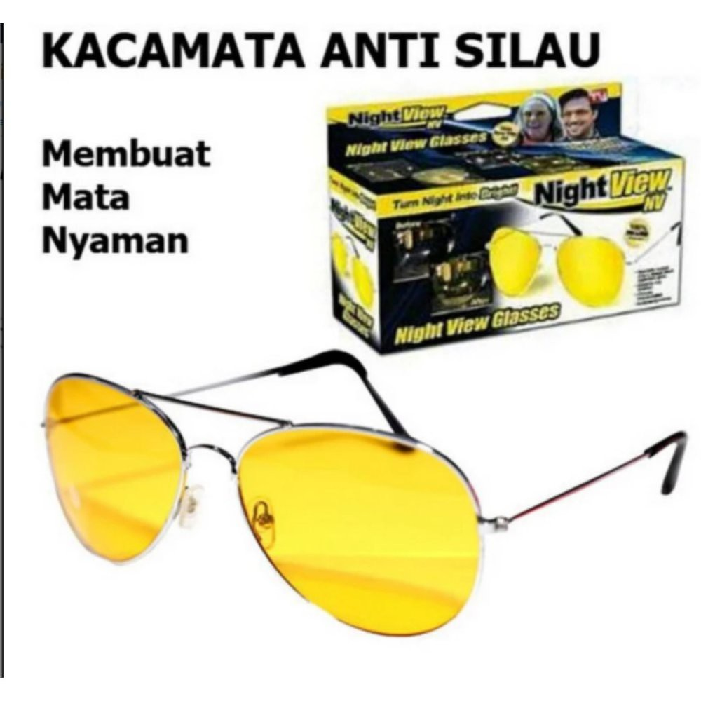 Lanjarjaya Kacamata Malam Anti Silau Night View Sunglasses  0d8aa38fca