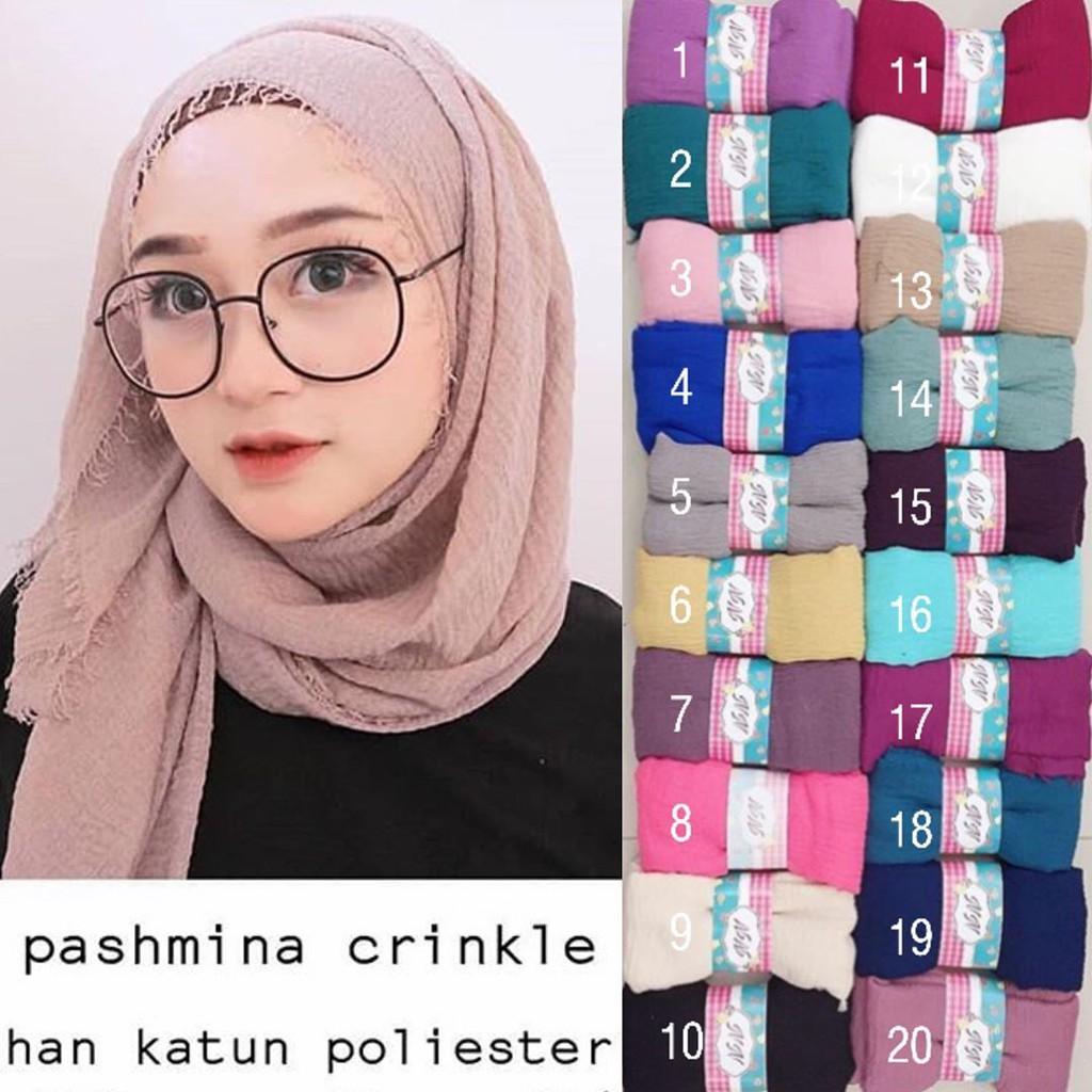 Gambar Tutorial Hijab Pashmina Crinkle Jilbab Voal