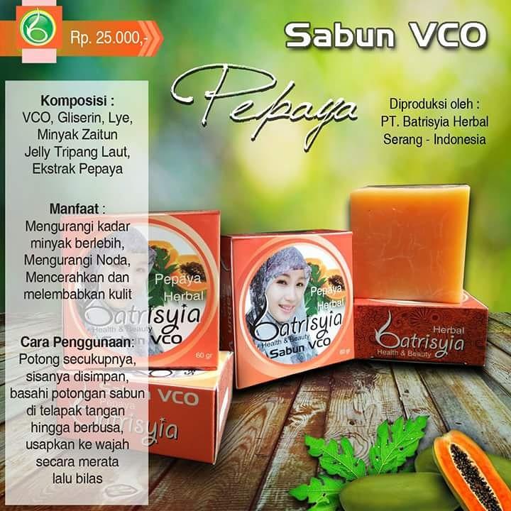 Batrisyia Sabun Vco Pepaya Papaya Shopee Indonesia