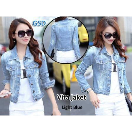 jaket vita dark jaket jeans denim cewek jaket jeans denim atasan jaket jeans  ripped  cf71039ba0