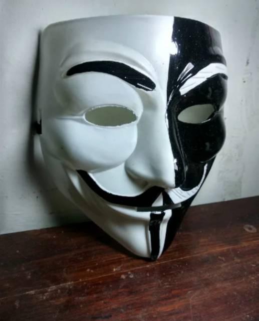 810 Koleksi Gambar Anonymous Hitam Putih Keren Terbaru