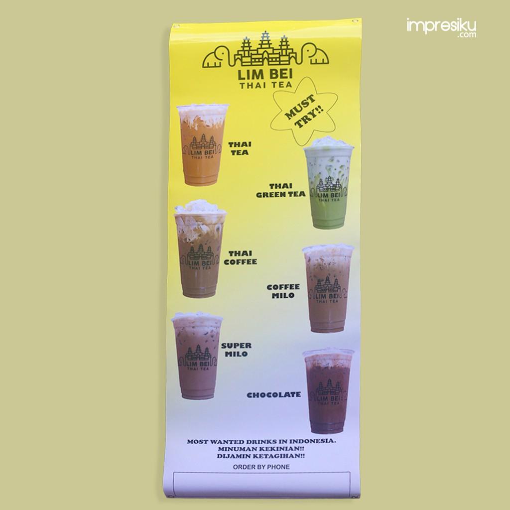 Contoh Desain Banner Minuman
