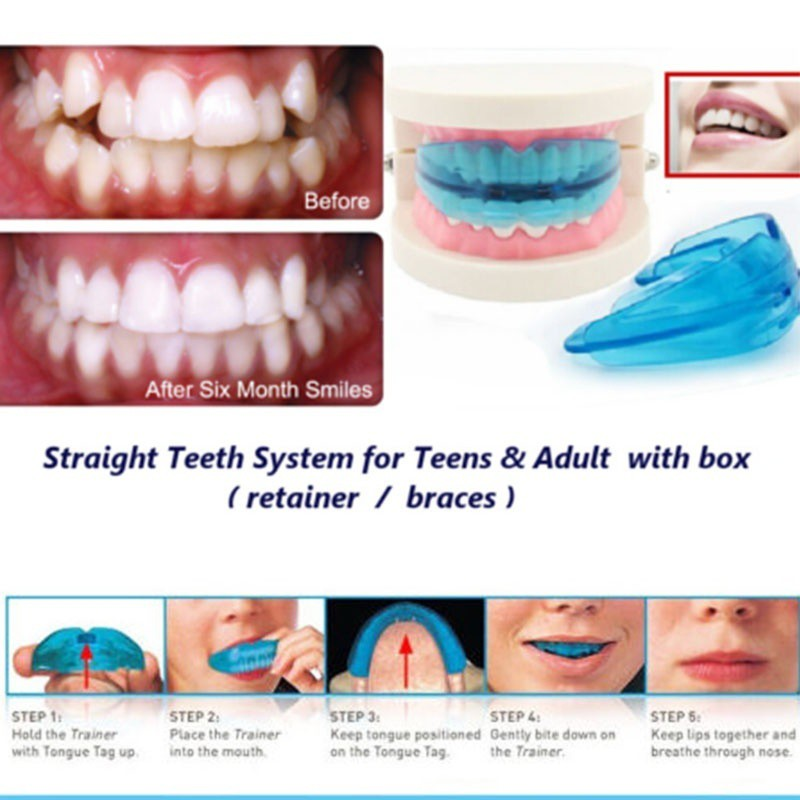 A Retainer Box Orthodontic Straight Teeth For Teens & Adult