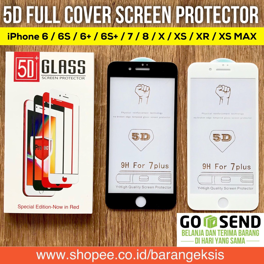 Tempered Glass Matte Blueray 4D IPHONE 6  6s   7   8 PLUS   X Full Cover  Kaca 9H Anti Gores Curve  8ce83f5778