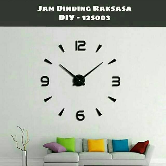 Jam Dinding DIY Dari Kaca Akrilik Dengan Empat Angka Berwarna ... 0d3099b140