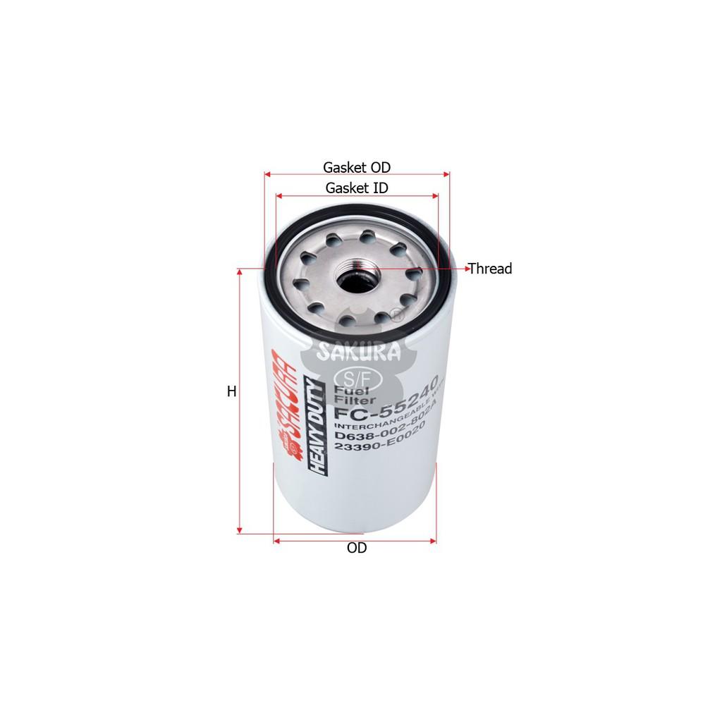 Sakura Fuel Filter Solar FC-55240 Kobelco SK200-8, Kobelco SK200-10