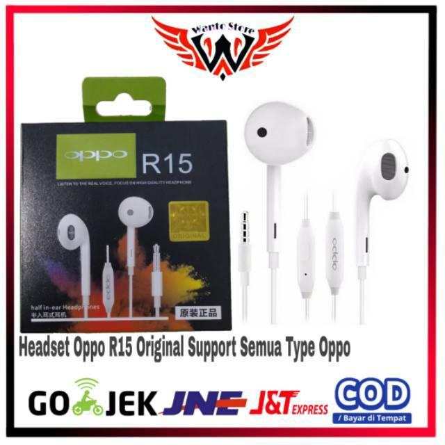 Headset Oppo Original 100%/Headset OPPO R15 R17 R12 R11 R7 F9 F7 F5 F3 F3plus F1s A7 A3s A5s A83 A71