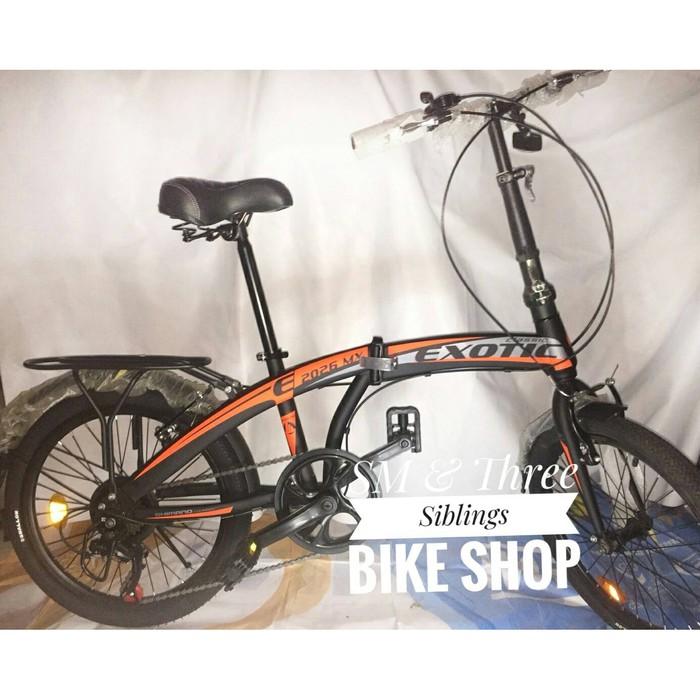 Ue385 Sepeda Lipat Exotic 20 Inch Folding Bike Cakram Shopee Indonesia
