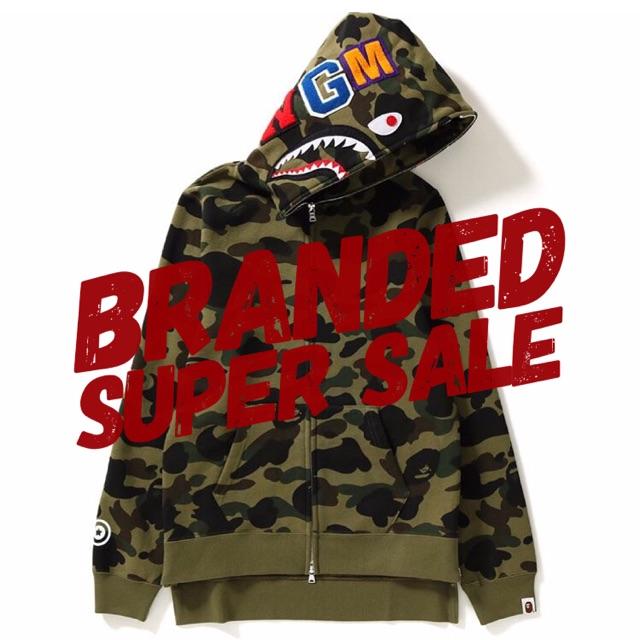 f11bd8a6237c Jaket hoodie a bathing ape   BAPE windstopper first CAMO shark   stussy  adidas off white
