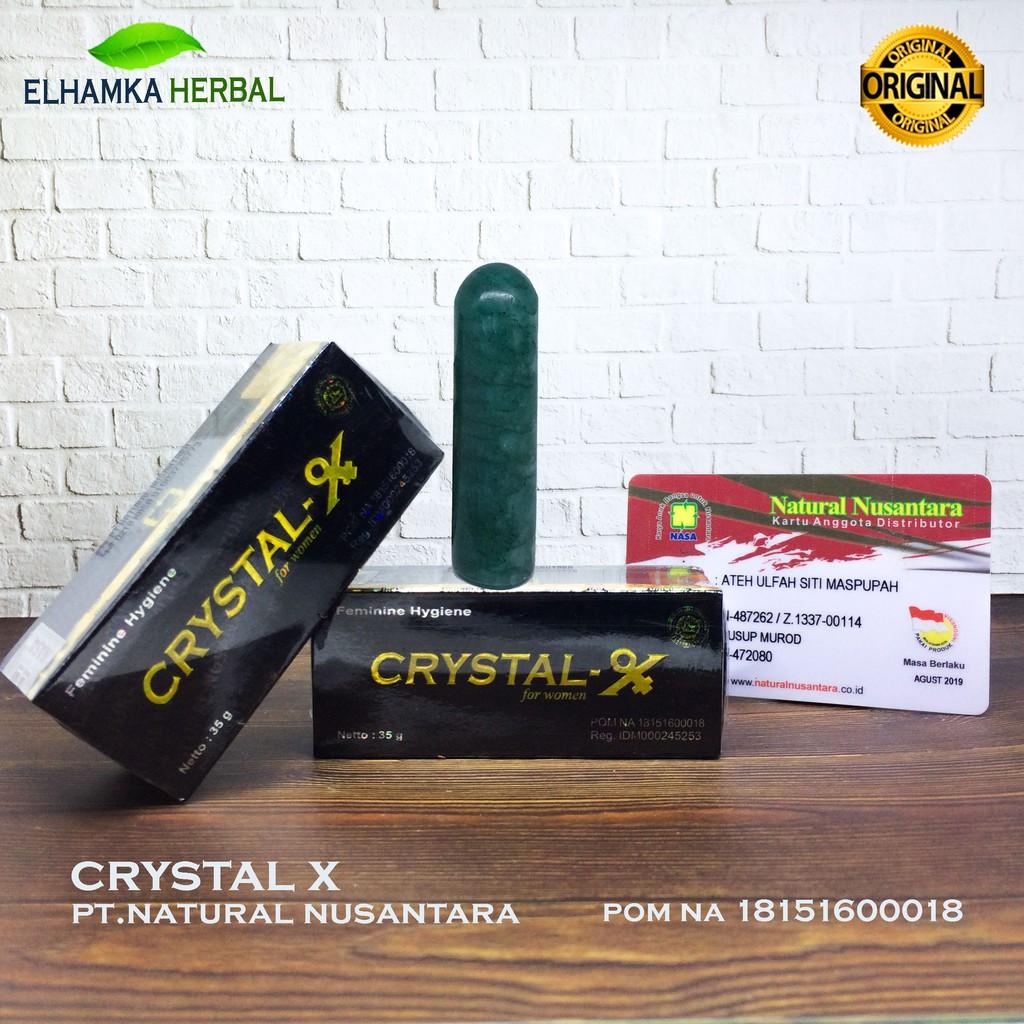 Crystal X Cristal Kristal Original Ptnasa Obat Keputihan Herbal Shopee Indonesia
