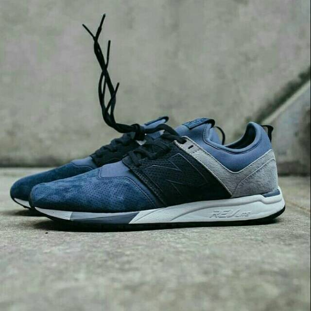 NEW BALANCE 247 LUXE SUEDE NAVY GREY