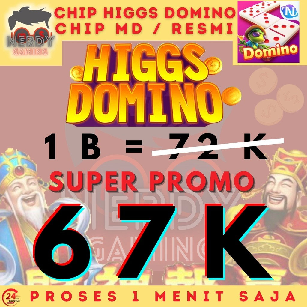 PROMO BESAR Chip Higgs Domino Ungu MD - Koin MD Murah - Chip Domino Higgs Island - Chip Hoki Jakpot