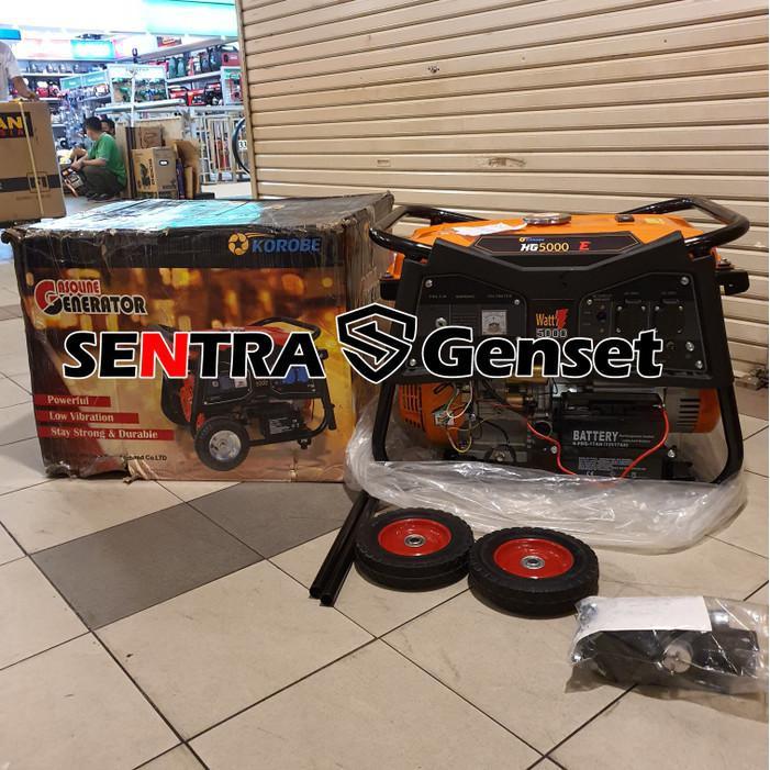 Generator / Genset / Genset 5000 Watt 5500 Watt. Korobe Kg 5000 E