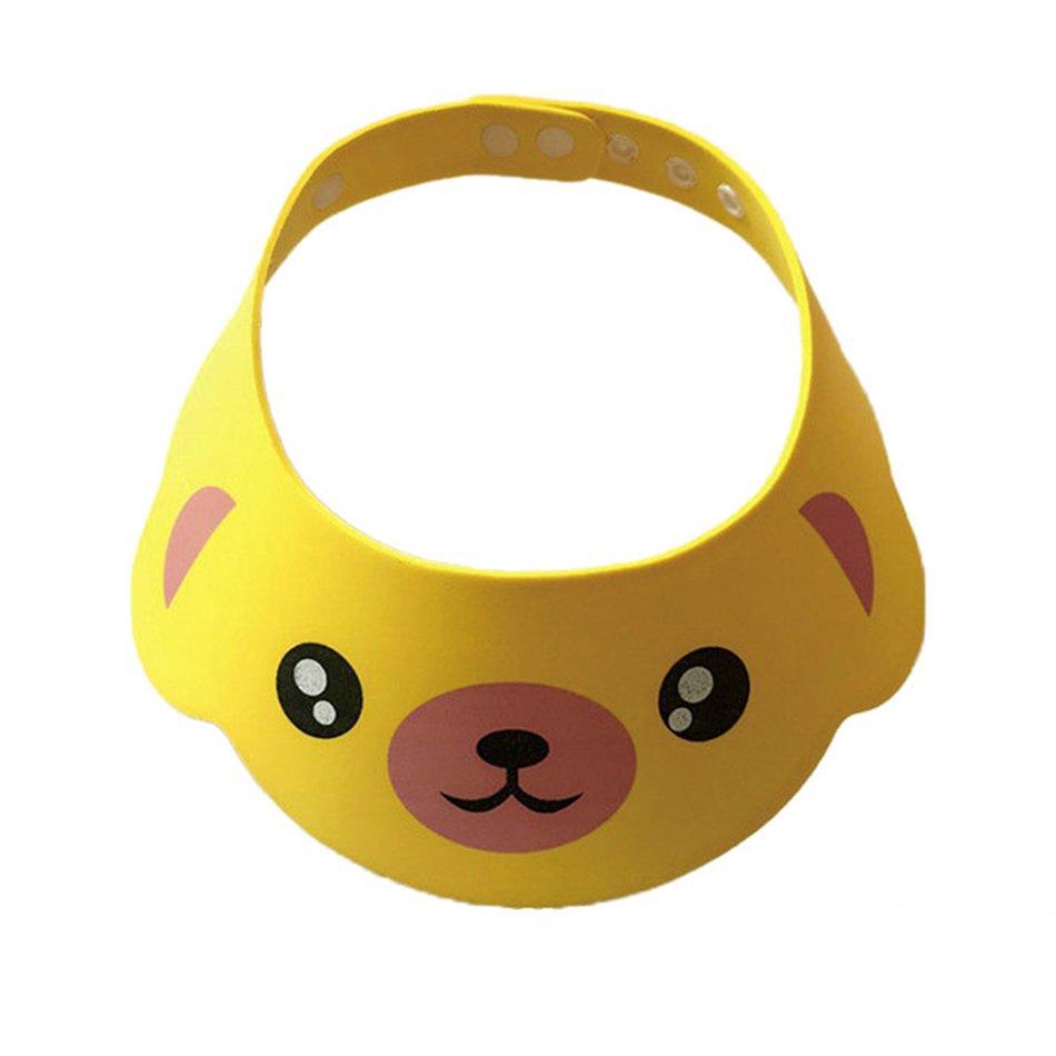 【gratis Ongkir】 Topi Shower Mandi Pelindung Mata Wajah Gambar Kartun Binatang Untuk Cuci Rambut Anak