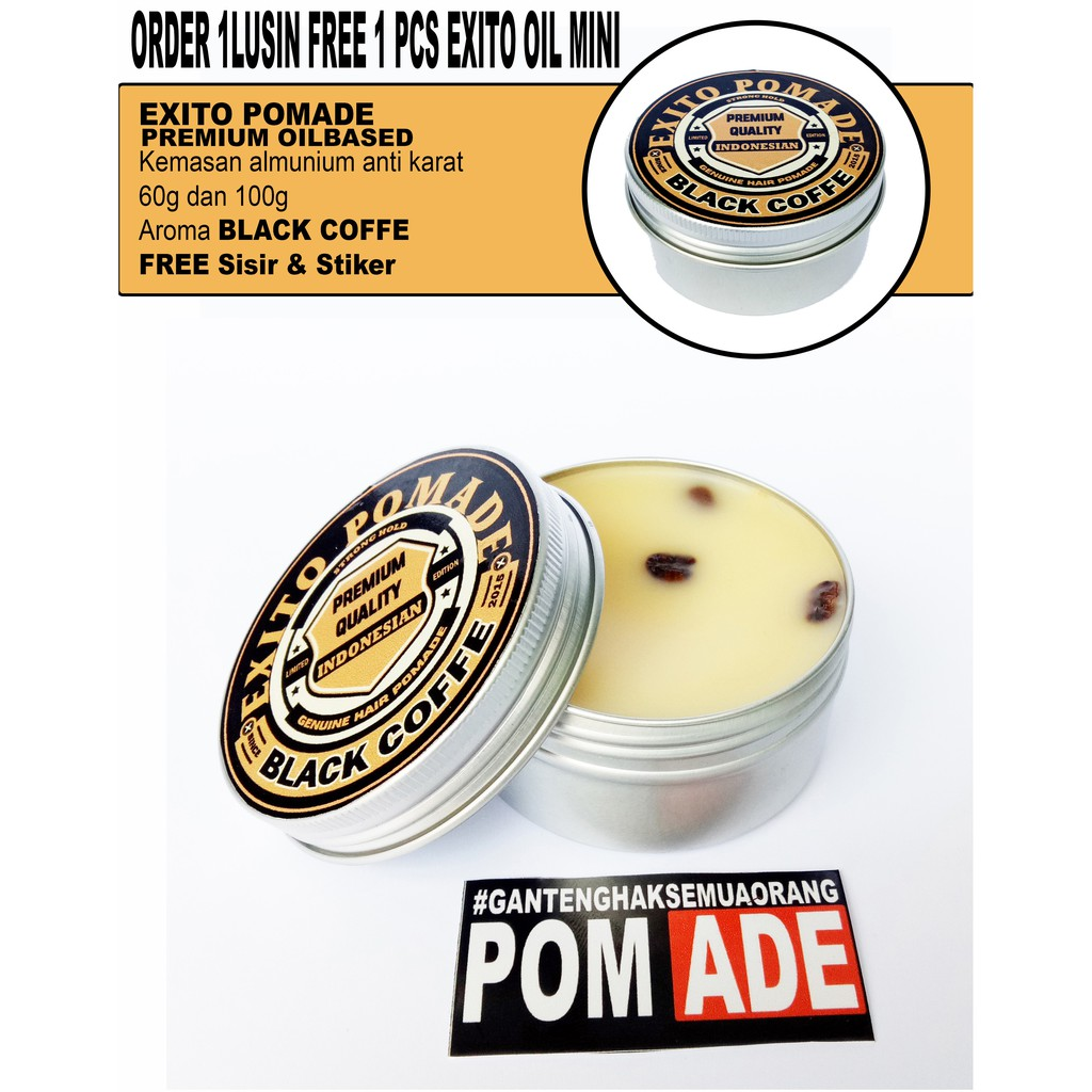 Pomade Oilbased Beeswax 100 Gr Pot Kaleng Shopee Indonesia Mini Hiroshi 22