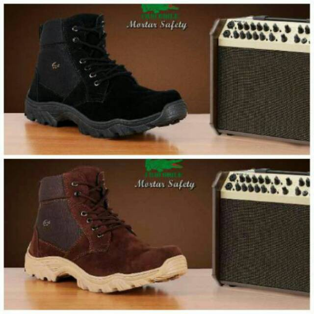 Sepatu Caterpillar Boots Safety Pria Outdoor Adventure Hiking Tracking  Lapangan  a6fce321fe