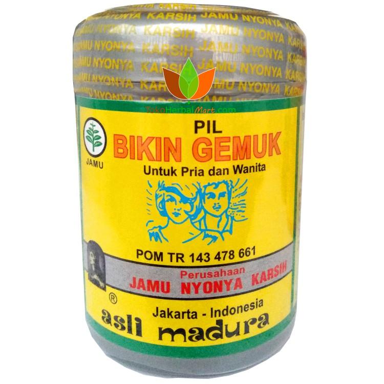 250 Pil Bikin Gemuk Jamu Nyonya Karsih Obat Gemuk Herbal Dewasa