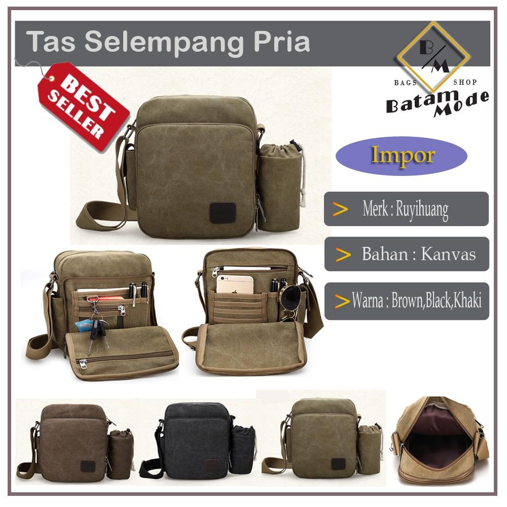 TAS SLEMPANG PRIA - TAS KANVAS - TAS IMPORT - TAS PRIA | Shopee Indonesia
