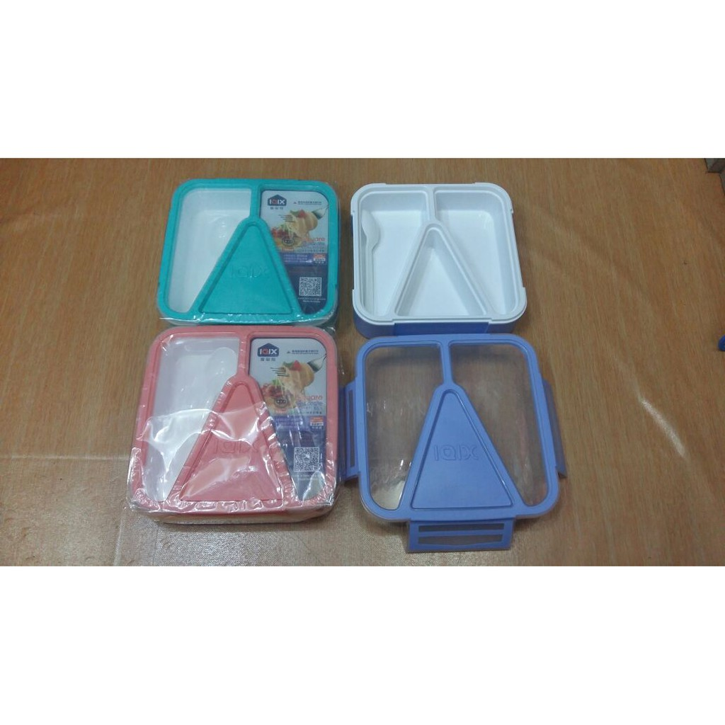 Lunch Box Kotak Makan Iqix 3sekat Bekal Anti Bocor Model Yooyee 4 Sekat Sup Item 415 Persegi Shopee Indonesia