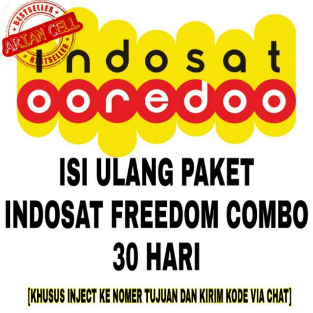 ISI ULANG PAKET INDOSAT INTERNET NEW FREEDOM COMBO 4GB 8GB 14GB 20GB 30GB 50GB KUOTA IM3 MENTARI