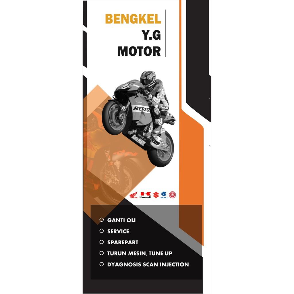 Desain Spanduk Bengkel Motor Cdr - desain spanduk keren