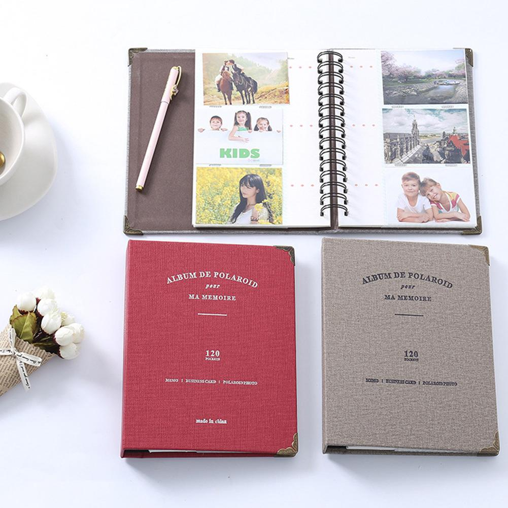3 Inch 120 Sheets Scrapbook Story Leather Cover Diy Large Capacity Photo Album Wedding Birthday