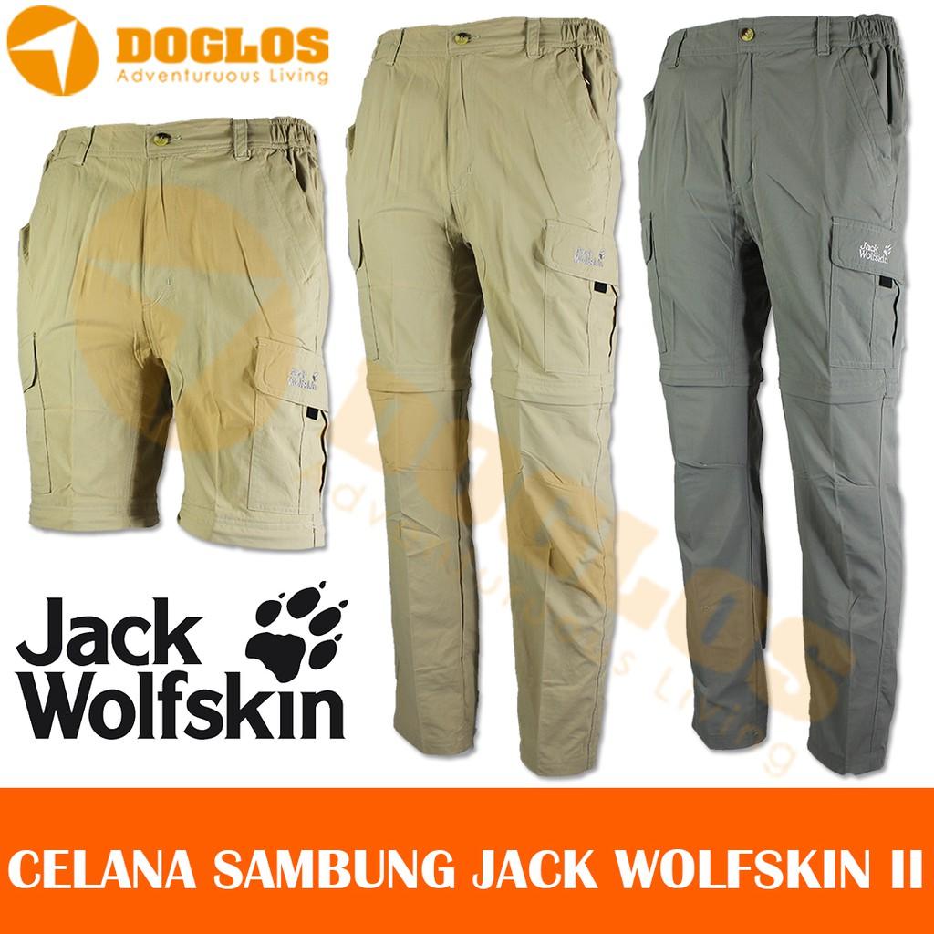 Celana Sambung Jack Wolfskin Jws Outdoor Quickdry For Gunung Hiking Panjang Black Yak Original Pant Ori Shopee Indonesia