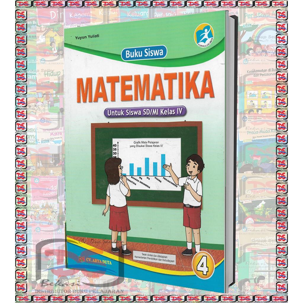 Buku Siswa Matematika Kelas 4 Sd Arya Duta Kurikulum 2013 Revisi 2018 Shopee Indonesia