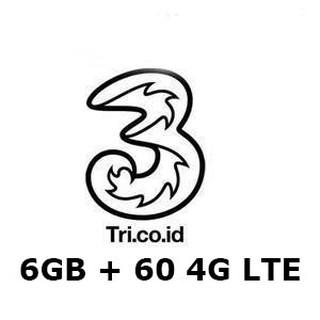 Voucher DATA tri 66gb ( 6GB + 60GB 4G = 66 gb ) 60 HARI, tri 66 gb