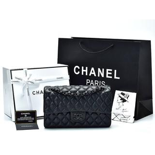 997cb1b60830 TAS BRANDED IMPORT MURAH - Tas Chanel Classic So Black Flap Medium Hitam  AH1112