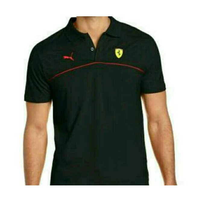 Polo shirt kaos kerah FERRARI LOGO  981fdccc16