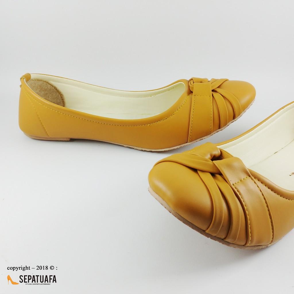 Sepatuafa - Flat Shoes Sepatu Teplek Aurora RG08 - Camel  cdf7123e42