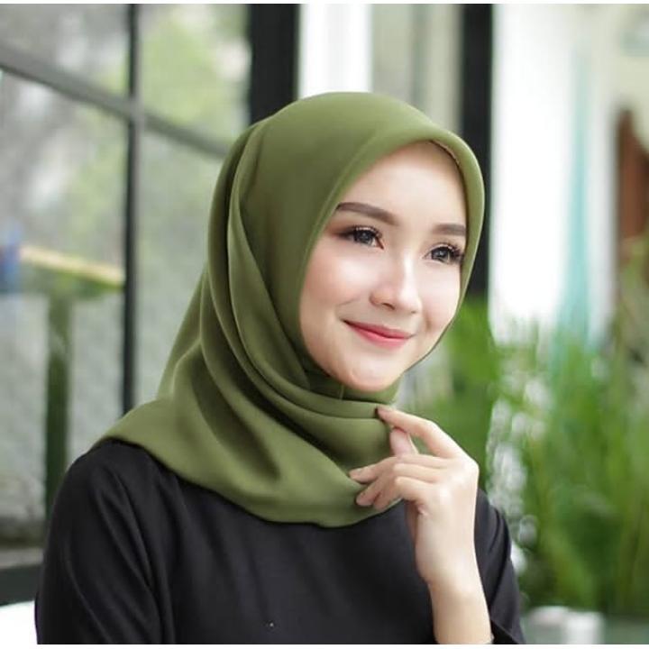 Bella Square Kerudung Potton Hijab Segi Empat Jilbab Bella