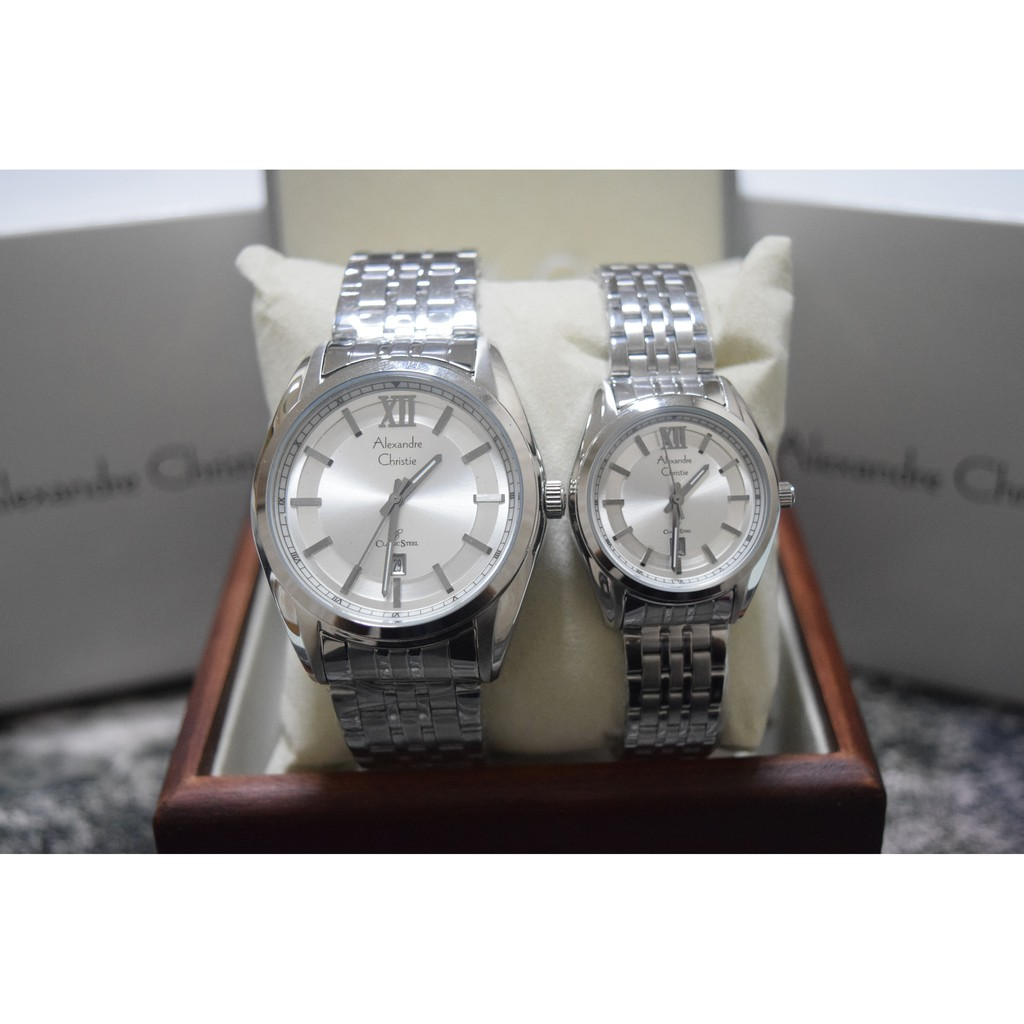 Alexandre Christie AC 8325 Silver Gold Couple Edition Original | Shopee Indonesia