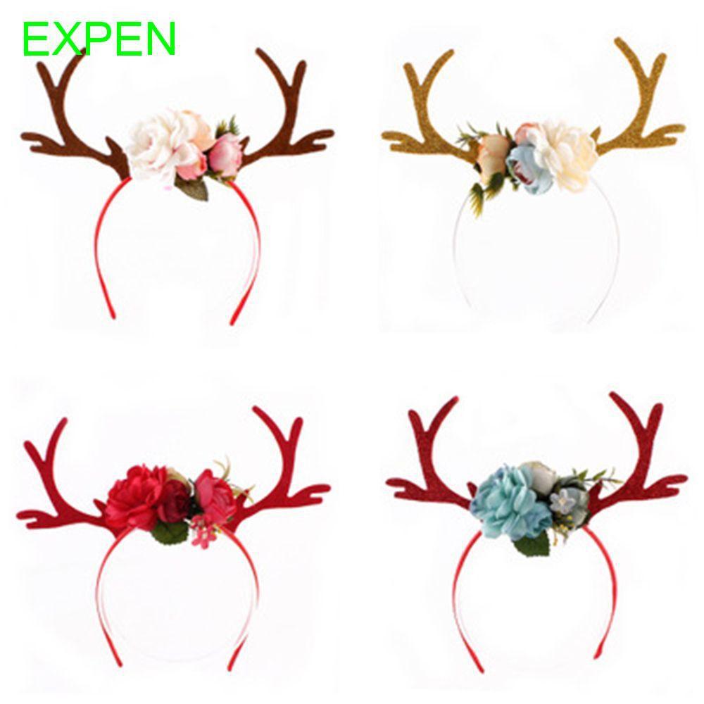 Deer Women Christmas Costume Reindeer Antlers Party Headwear Shopee Indonesia