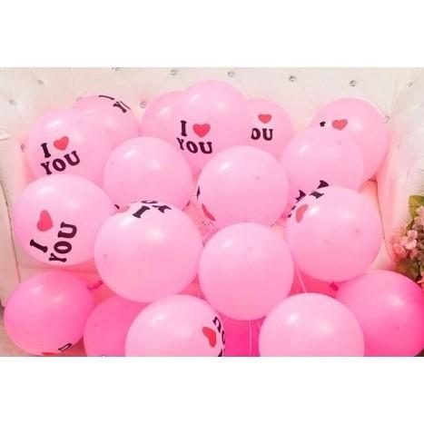 Balon I Love You Isi 20 Warna Pink