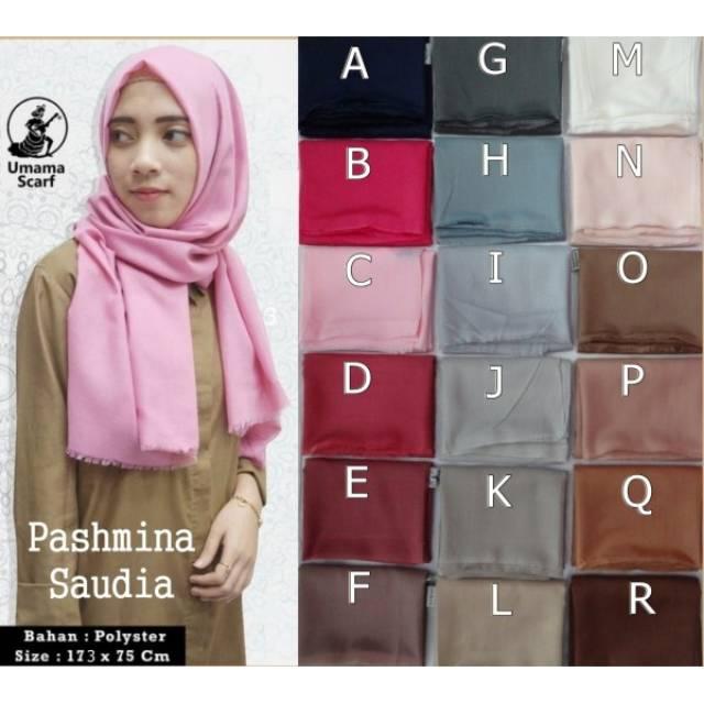 Jilbab Pashmina Saudia Hijab Pashmina Saudia Kerudung Pashmina Umama Shopee Indonesia