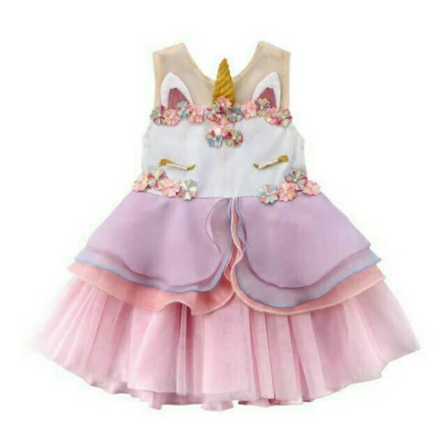 Baju Atasan Dress bayi balita unicorn little pony kirana   Shopee Indonesia