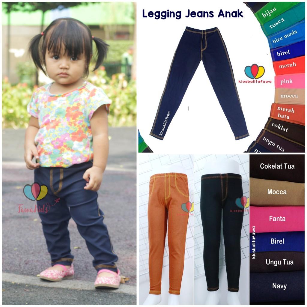 Jegging Polos Uk 5 6 Tahun Legging Jeans Polos Anak Laki Perempuan Celana Panjang Murah Ketat Adem Shopee Indonesia