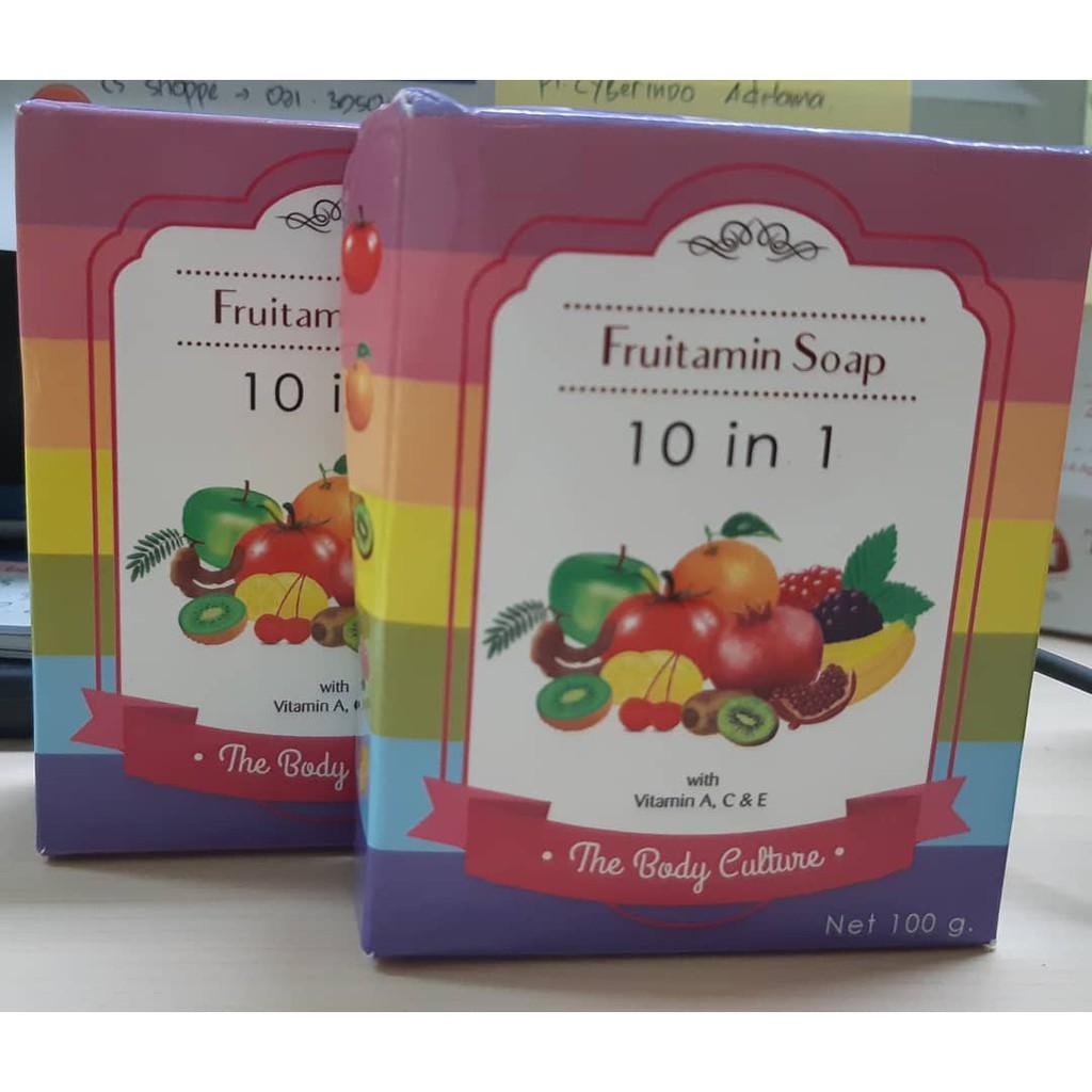 Fruitamin Soap Sabun Shopee Indonesia 10 In 1 Frutamin