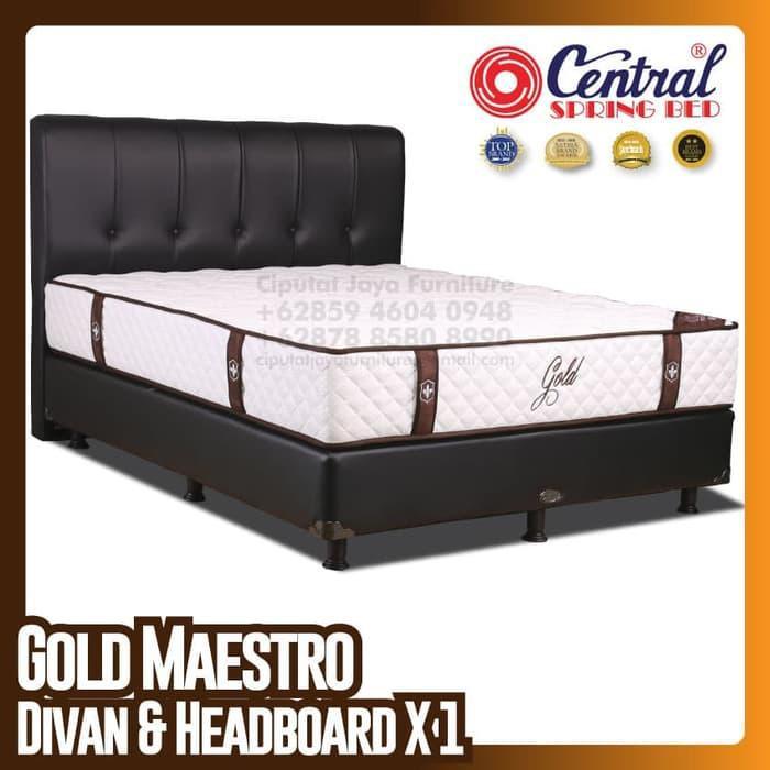 [ Perabot } 193E2837 Central New Gold Maestro - SpringBed Set - Ukuran 100 x 200 cm Furniture