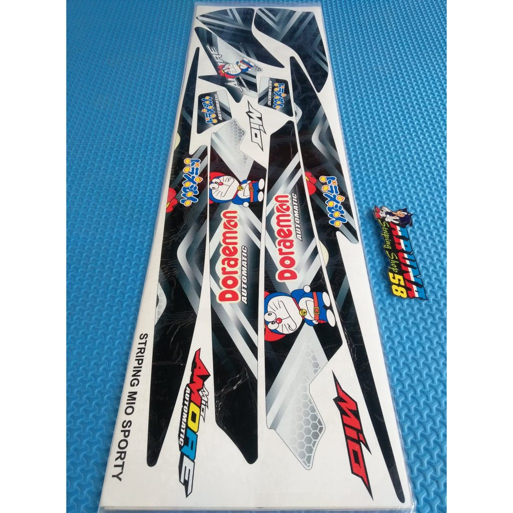 Striping sticker lis motor variasi yamaha mio sporty mio smile amore 4 6 shopee indonesia