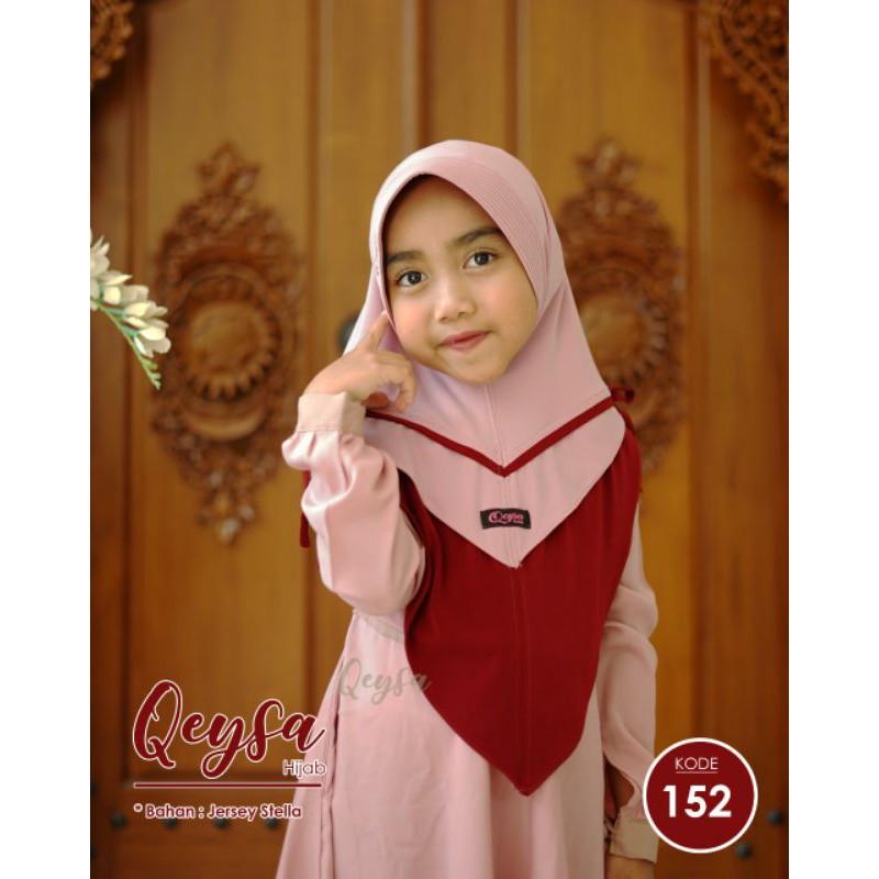 Qeysa hijab kids Original / Qeysa hijab anak kode 152 / Jilbab Qeysa Anak