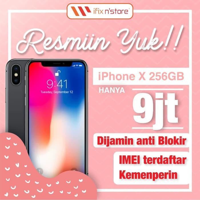 Handphone Second iPhone X 256GB EX IBOX/ERAFONE Fullset ...