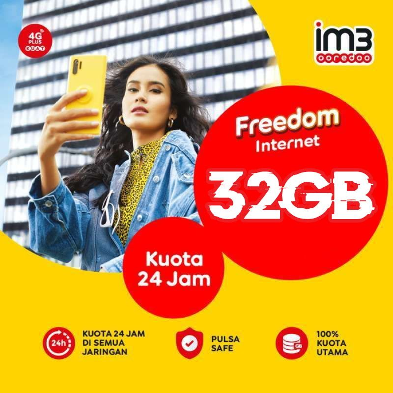 PROMO TERMURAH!! 32GB INTERNET || 50GB INTERNET INDOSAT GIFT (WAJIB UNREG)