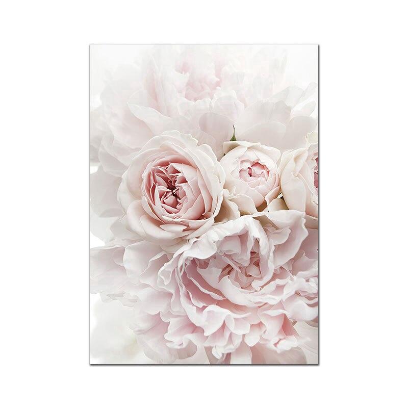 Lukisan Kanvas Print Bunga Mawar Untuk Dekorasi Ruang Tamu Shopee Indonesia