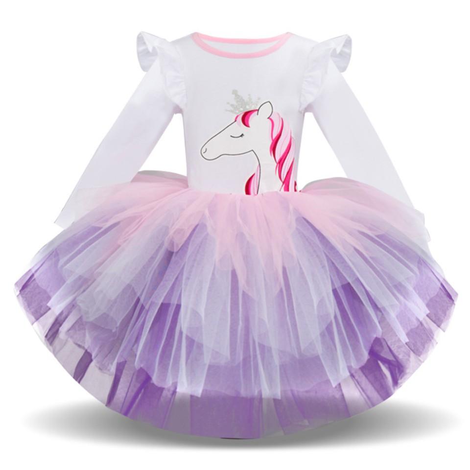 Gaun Tanpa Lengan Dengan Bahan Katun Dan Gambar Kartun Unicorn Warna Pelangi
